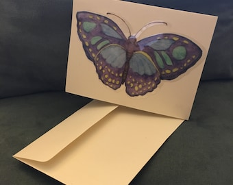 "Handmade card ""Butterfly Thank You"""