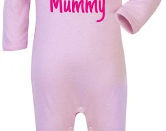 Baby Girl Baby Grow. I Love My Mummy Girl's Baby Grow. Funny Baby Grow. Baby Girl's Bodysuit. Baby Girl Onesie.