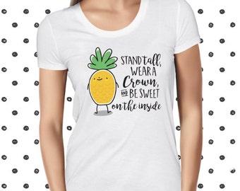 Cute Vegan Shirt - Funny Pineapple Tee - Vegan T-shirt - Funny Vegan Tshirt - Funny Fruit Tee Shirt - Vegetarian Tee - Cute Pineapple Tee