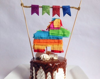 Pinata cake topper, Fiesta cake topper,  Mexican cake topper, Mini pinata, Mexican party decorations, Mexican party, Fiesta decorations,