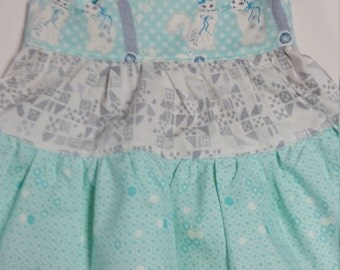 Cats in the Woods Triple Mash-Up Dress, Baby, Toddler, Choose Your Size, Model Dress available now Size 12 mo