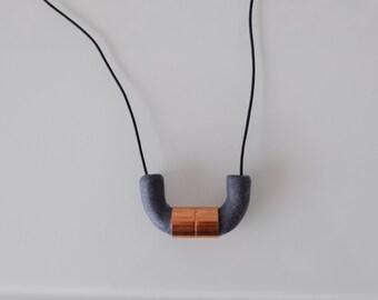 U-bend copper connector necklace