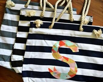 Personalized Bag - overnight bag - pool bag - beach bag
