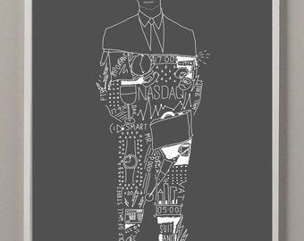 Suit & Tie A4 Print