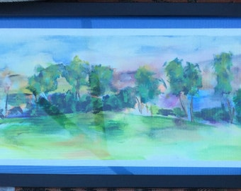 Framed Acrylic Painting of the Camino Landscape