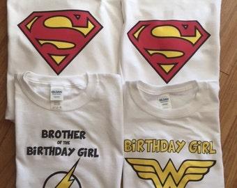 Custom Super Hero Shirts for the Family