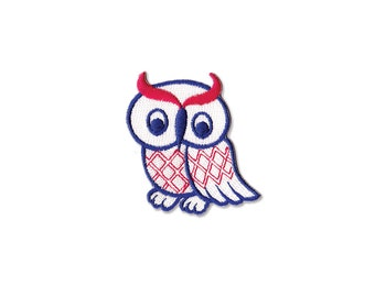 Owl Patch  - Owl  Embroidered Iron on Patch - Owl Iron on Applique