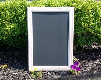 RUSTIC CHALKBOARD 19 1/2 X 27 1/2 Reclaimed Wood, Rustic Antiqued Wedding Chalkboard, Big Chalk board, Kitchen / Menu  Chalkboard