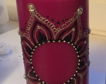 Purple Henna/Mendhi Candle
