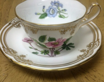 Spode Stafford Flowers Oxalis Teacup and Saucer