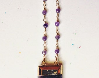 Amethyst Wedge Necklace