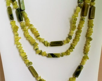Spring Lawn Stone Rope Long Necklace
