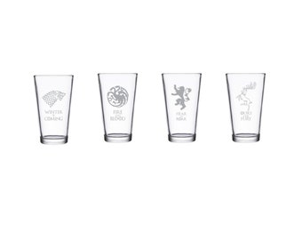 Game of Thrones Glass Set - 4 Major Houses