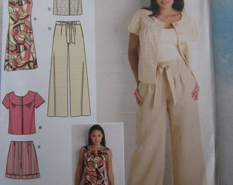 Simplicity 2896 Dress, Jacket, Trousers and Shorts Sewing Pattern 16-24