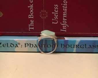 Faux Seaglass Bead Ring