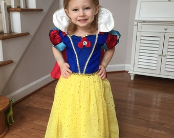 Custom Snow White Costume or Dress for Girls, Toddler, Infant, or Adult