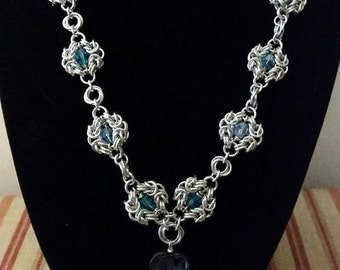 Romanov and Swarovski Chainmaille Necklace