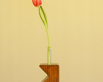 Test Tube Vase - Wooden