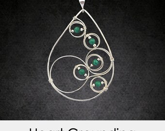 Heart Grounding-Healing Crystal Necklace-Malachite Healing Crystal