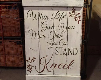 Custom made pallet signs - Any saying - any colors!