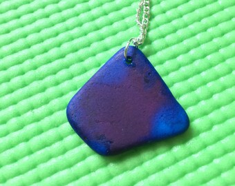 Blue/Purple Dyed Sea Pottery Necklace