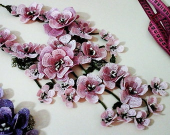 Turkish Oya Lace Crochet Necklace Handmade All Colors