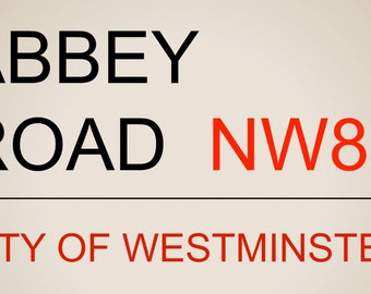 Abbey Road London street sign travel decor