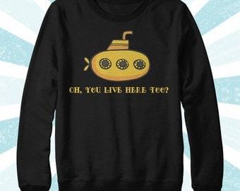The Beatles Sweatshirt - Yellow Submarine - Band Shirt - John Lennon - Funny Shirt - Sweater - Fall Clothing - Women's and Men's Long Sleeve