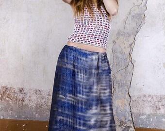 Long skirt blue fantasy