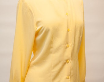 SALE 80s Yellow Blouse Warranted To Be A Pendleton Women's 6