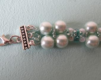 Aqua Pearl Bracelet