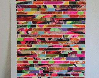 "Original acrylic painting. Abstract art. 18 X 24. ""Gina"""