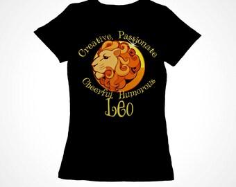 Leo Girls Zodiac Astrology Tee