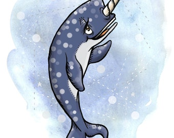 Narwhal Makes A Sandwich - Narwhal Print
