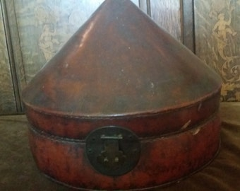 Antique Chinese Qing Dynasty Officer Hat Box - Originally From the Early 18th Century