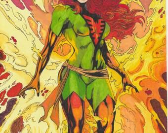 ORIGINAL Marvel,DC,DragonBall comics art drawing, super hero art, A4,