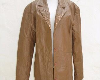 Vintage Jocelyn St Vincent Signature Series Crinkle Leather Jacket L