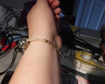 Golden earrings and bracelet