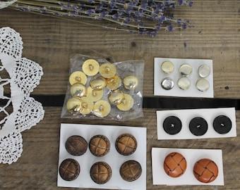 Assortment of Buttons/Vintage Sewing/ Buttons/Scrapbook Supplies/Craft Supplies (Set E)