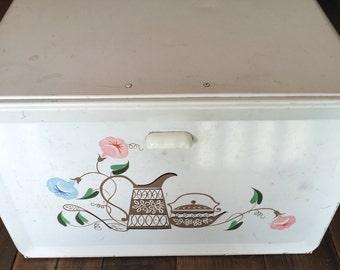 Vintage Tin Ransburg Bread Box