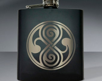 Doctor Who: Seal of Rassilon Flask - 6 oz flask.