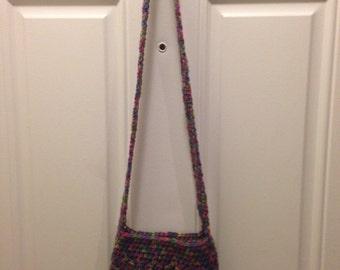 Girls handmade crochet crossbody bag
