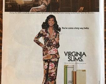 Virginia Slims Ad from 1972 LIFE magazine