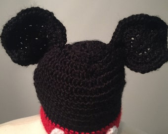 Newborn Mickey Mouse Hat