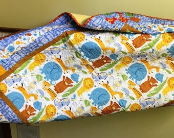 Bouncing Borders - Baby Quilt