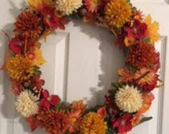 Beautiful Handcrafted Fall Wreath