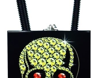 Constance Gold Skull with Ruby Eyes