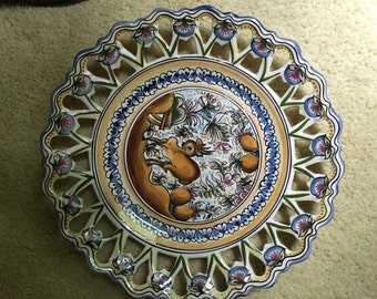 Hand Made and Painted Plate