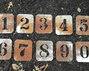 Rustic Metal Letters And Numbers Gorgeous 5 12 Rustic Metal Letters Metal Number Barn Tin Design Ideas