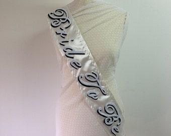 Bride to be sash. Handmade hen/bachelorette party custom sashes
